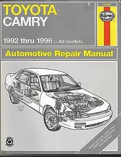 Toyota Camry Automotive Repair Manual: 1992 Through 1996 (Hayne's Automotive Repair Manual)