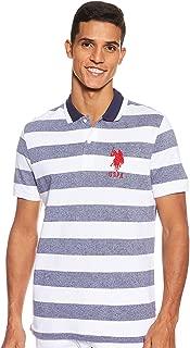 Men's Slim Fit Marle Striped Pique Polo Shirt