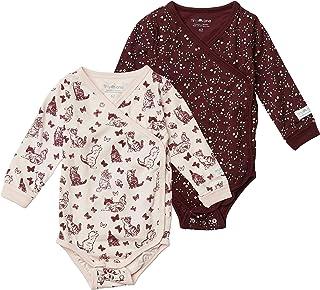 Tiny One Lot de 2 bodies à manches longues pour bébé - En coton biologique certifié GOTS - Durée de vie prolongée grâce à ...