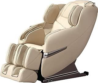 Galaxy Optima 2.0 Full body Shiatsu Massage Chair Recliner w/Heat & Outer Shoulder Massage (Beige)