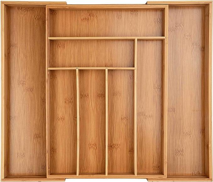 64 opinioni per ONVAYA® Portaposate allungabile in bambù   inserto per posate   inserto per