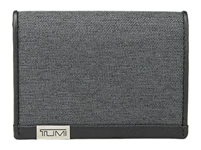 Tumi Alpha Gusseted Card Case With ID (Anthracite/Black) Credit card Wallet