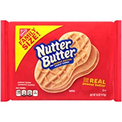 Nutter Butter Peanut Butter Sandwich Cookies - Family Size, 16 Ounce
