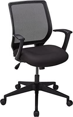 "Lorell LLR84868 Executive Mid-Back Work Chair 2.6"" Height X 62.5"" Width X 26.8"" Length Black"