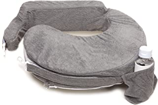 My Brest Friend Nursing Pillow Deluxe Slipcover – Machine Washable Breastfeeding Cushion Cover - Pillow not Included, Evening (Dark Grey)