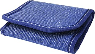 Mundkar Men's 3 Fold Wallet (Dark Blue)