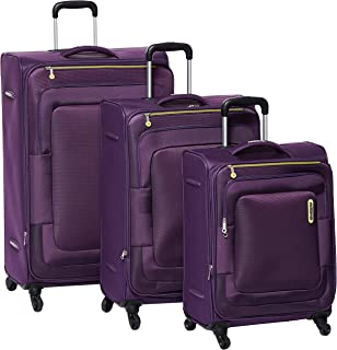 American Tourister Duncan Softside Spinner Luggage Set of 3, with TSA Lock - Purple
