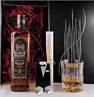 Geschenk Bushmills Black Bush irischer Whiskey  Glas  2 Whisky Kühlsteine