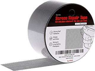 "by.RHO 2""x105"" Screen Repair Kit. 3-Layer Strong Adhesive & Waterproof Ideal for Covering up Holes and Tears Instantly. Screen Repair Tape for Window and Door Screen. Fiberglass Cloth Mesh."