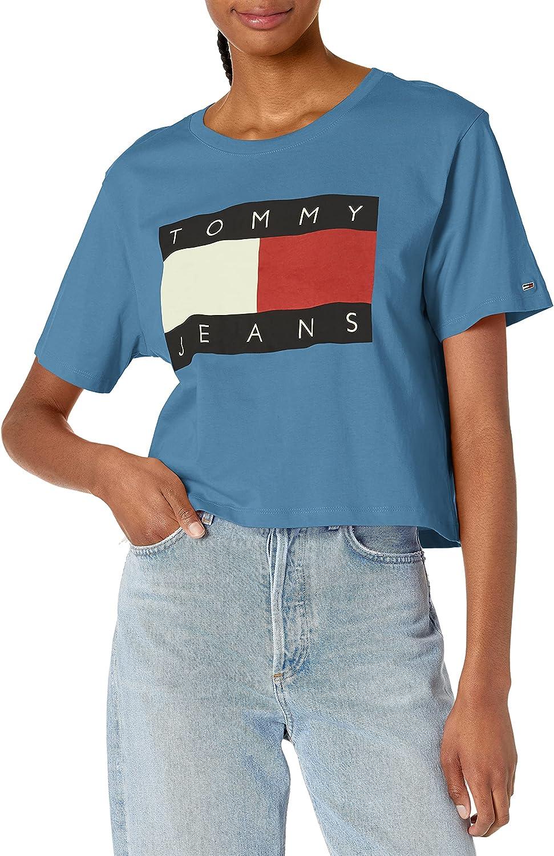 Tommy Hilfiger Women's T-Shirt 新作 大人気 Cropped Classic 本日限定
