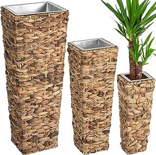 Pflanzkübel Geflochten.übertopf Rund 28 Cm Durchmesser Geflochten Blumentopf