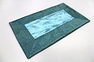 India Cojín 40x 60cm Funda de cojín almohada funda India oriental, turquesa, 40 x 60 cm