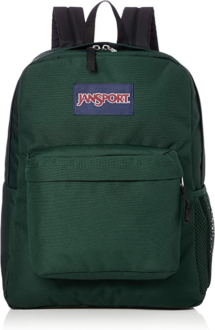 JanSport Laptop Backpack, 42, Pine Grove Green, 25 L Capacity