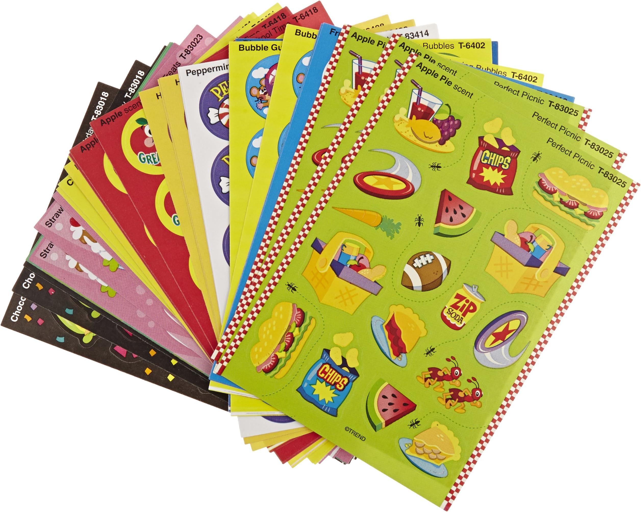 Cherry Candy 4 Block Vintage Trend Matte Scratch /& Sniff Stickers Mint!!