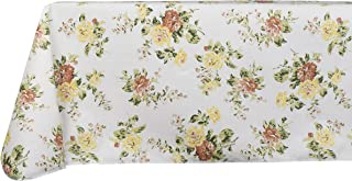 Yourtablecloth Printed Vinyl Tablecloth with Flannel Backing for The Home, Picnics, Events, Indoor and Outdoor Dining (Vintage Garden, 52x52 Square)