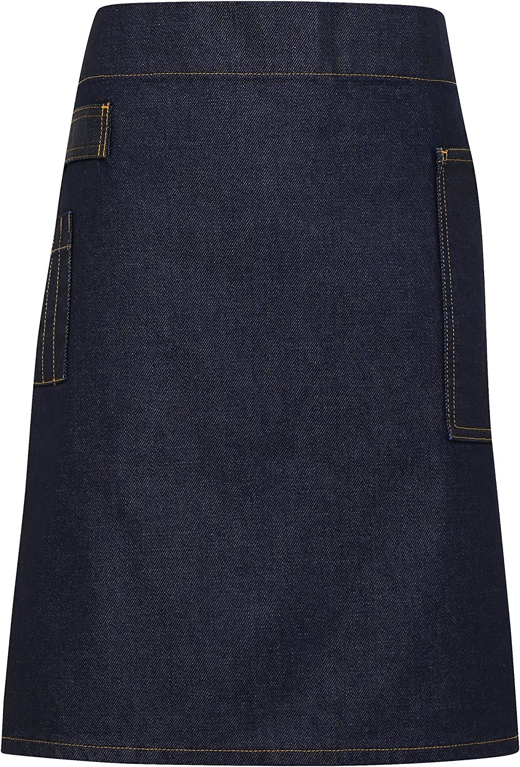Online limited product Premier PR135 Division waxed-look denim 5 ☆ popular apron Choice of waist c