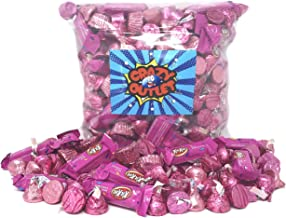 Baby Shower Chocolates Assortment Pink Wrap - Hershey's Kisses Milk Chocolate, Reese's Peanut Butter Cup, Kisses Caramel, Pink Kit Kat Miniatures, Rolo Chewy Caramel - It's a Girl Candy Bulk, 3Lbs