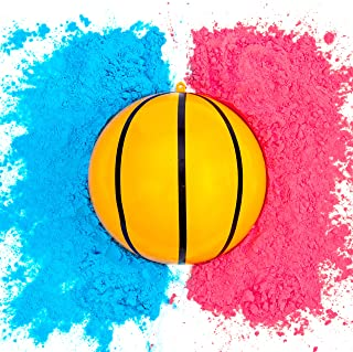 Gender Reveal Basketball | Blue and Pink Powder Kit | Gender Reveal Party Supplies | Ultimate Party Supplies
