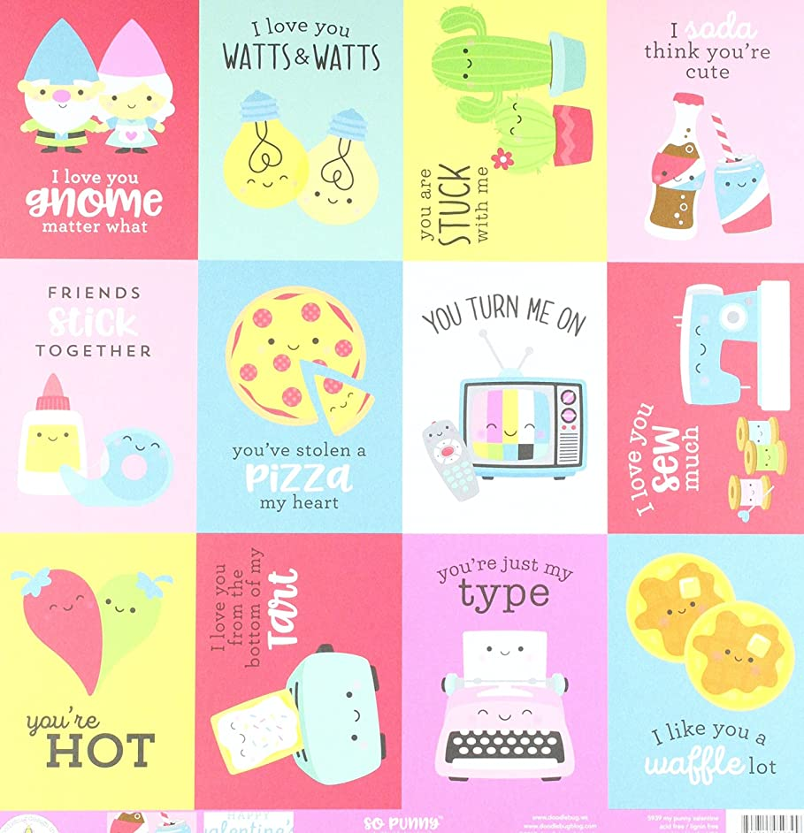 DOODLEBUG My So Punny Double-Sided Cardstock 12