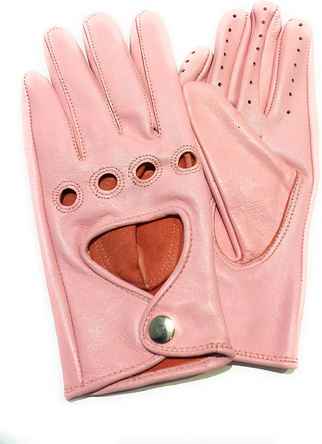 Sportsimpex Women Unlined Leather Driving Gloves (MEDIUM, PINK)