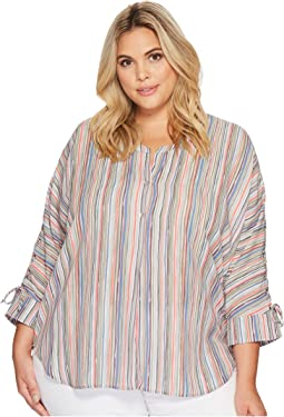 Plus Size Cabana Tie Top