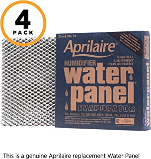 Aprilaire 10 Replacement Water Panel for Aprilaire Whole House Humidifier Models 110, 220, 500, 500A, 500M, 550, 558 (Pack of 4)