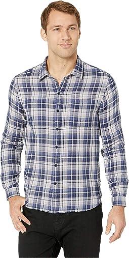 Double Weave Plaid/Small Check Slim Reversible Shirt