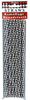 Houndstooth Drinking Straws (Black and White Check, 12 Pack) Alabama Houndstooth Collection by Havercamp