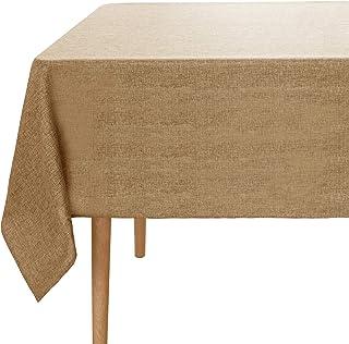 Amazon Brand - Umi Rectangulaire Nappe Couleur Brun Impermeable en Table pour Enfant Fille 150x200cm Protege Table