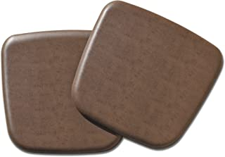 NewLife By GelPro Vintage Leather Comfort Seat Cushion, 16 x 16, Rustic Brown, 2 Piece