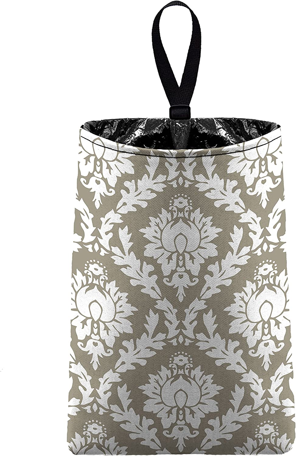 The Mod Mobile Auto Trash Light trash bag Beauty products Damask Free Shipping New car Taupe by