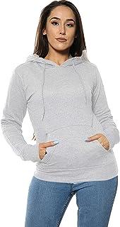 Sudadera lisa con capucha para mujer con capucha y manga larga, estilo casual