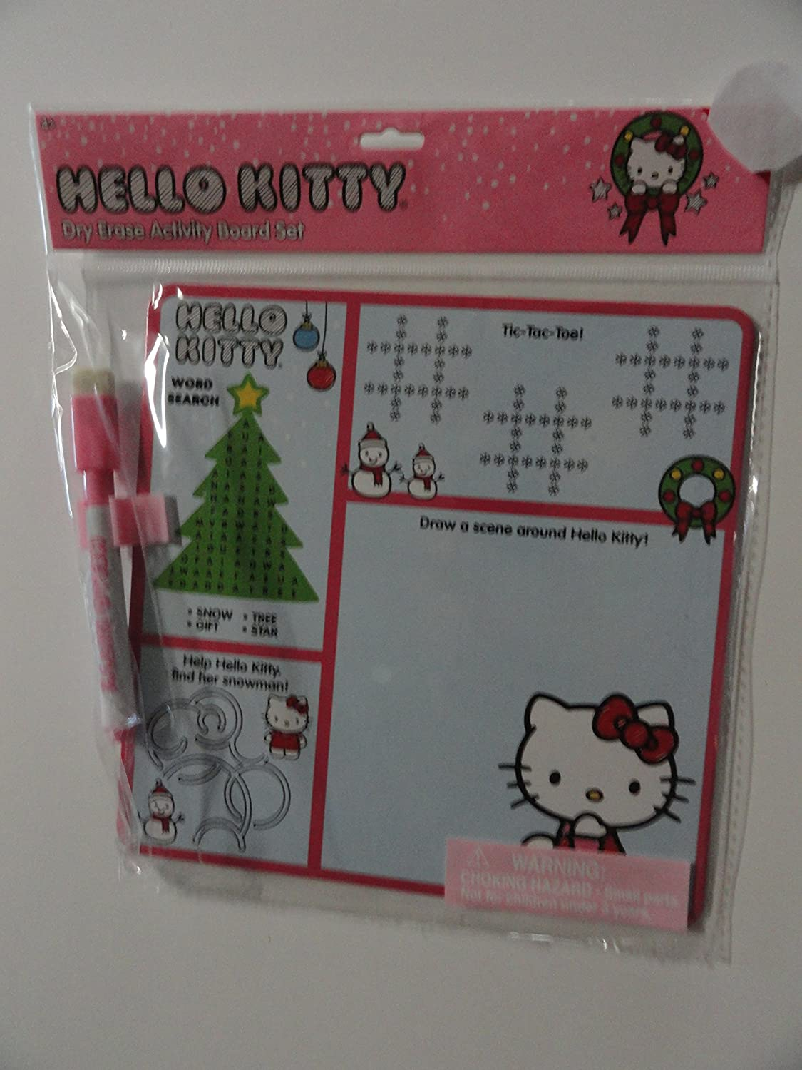 New popularity Hello Kitty Dry Erase Now free shipping Christmas Board Activity Set