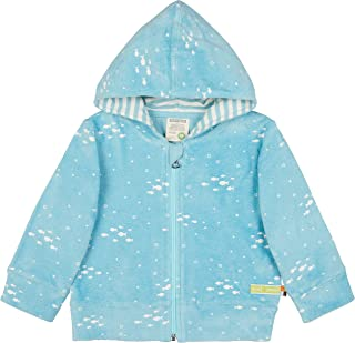 Loud + Proud Kapuzenjacke Frottee, GOTS Zertifiziert Jacket, Lagoon, 98/104 Mixte bébé