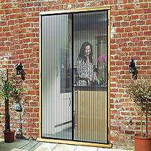 Convient /à la Taille Noir MENGH Moustiquaire de Porte 80x215cm Facile Ouvrir et Fermer la Conception Rideau Porte Anti Insectes Facile /à Installer