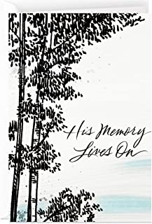Hallmark Sympathy Card for Loss of Husband, Father, Brother (His Memory Lives On)