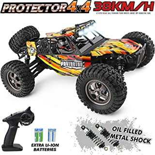 HAIBOXING 12815 RC Car 1:12 Scale 4WD Off-Road Remote Control Car 38+KM/H High Speed, 2.4 GHz All Terrain Waterproof Radio Controlled Cars with 2 Rechargeable Batteries, RTR Electric RC Trucks Hobby
