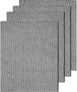 Kimimara バーベキューグリルマット BBQマット 焼き肉シート 超耐熱260℃ 繰り返す利用 軽量コンパクトbbq網 鉄板用 オーブン 電子レンジ焙煎メッシュマット クッキングシート 40*33cm (4枚網)