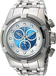 Men's Bolt Swiss-Quartz Watch with Stainless-Steel Strap, Silver, 16 (Model: 21802)