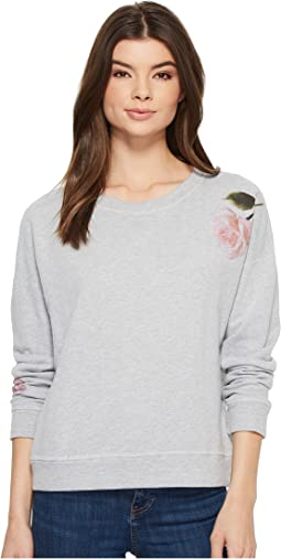 Michael Stars - French Terry Reversible Pullover with Flowers