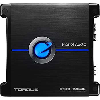 Planet Audio TR1500.1M Monoblock Car Amplifier - 1500 Watts, 2/4 Ohm Stable, Class A/B, Mosfet Power Supply, Great for Subwoofers