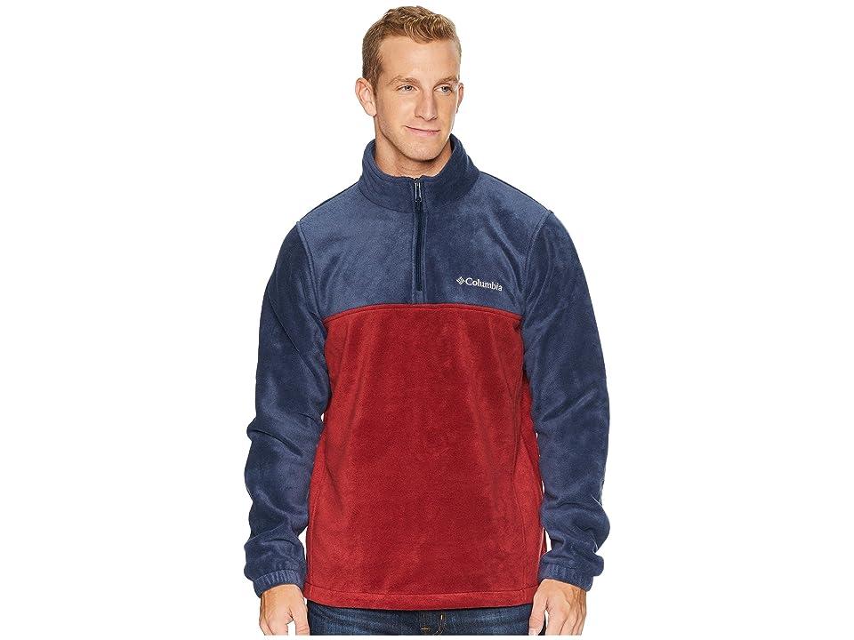 Columbia Steens Mountaintm Half Zip (Collegiate Navy/Red Element) Men