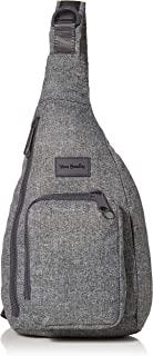 Vera Bradley Women's Recycled Lighten Up ReActive Mini Sling Backpack, Gray Heather, One Size