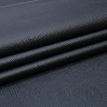 SAE Fabrics Upholstery Rexine Fabric/Artificial Leather Sheet - 140 cms Width - PU Mix, Matte Finish - 1 Meter Multiple - Color: Black