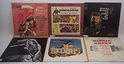 Movie Soundtrack/Musical Lot of 6 Vinyl Record Albums My Fair Lady, Fiddler on the Roof and more