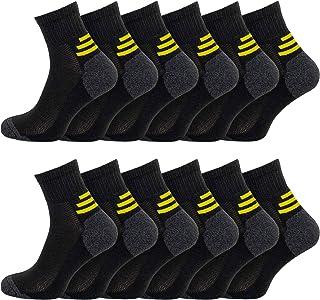 Socksmad Work Socks 12 Pair – Mens Socks for Work Boots – Reinforced Heels and Toes Hunter Boot Socks – Enhanced Cushion S...