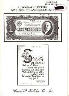 PHOTOS - AUTOGRAPH LETTERS, MANUSCRIPTS AND DOCUMENTS  555 SALE - JULY 22, 1982