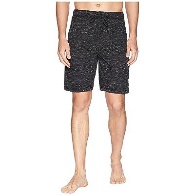 Jockey Tiger Heather Knit Sleep Shorts (Caviar/Bright White) Men