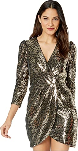 Gold Leopard Sequin
