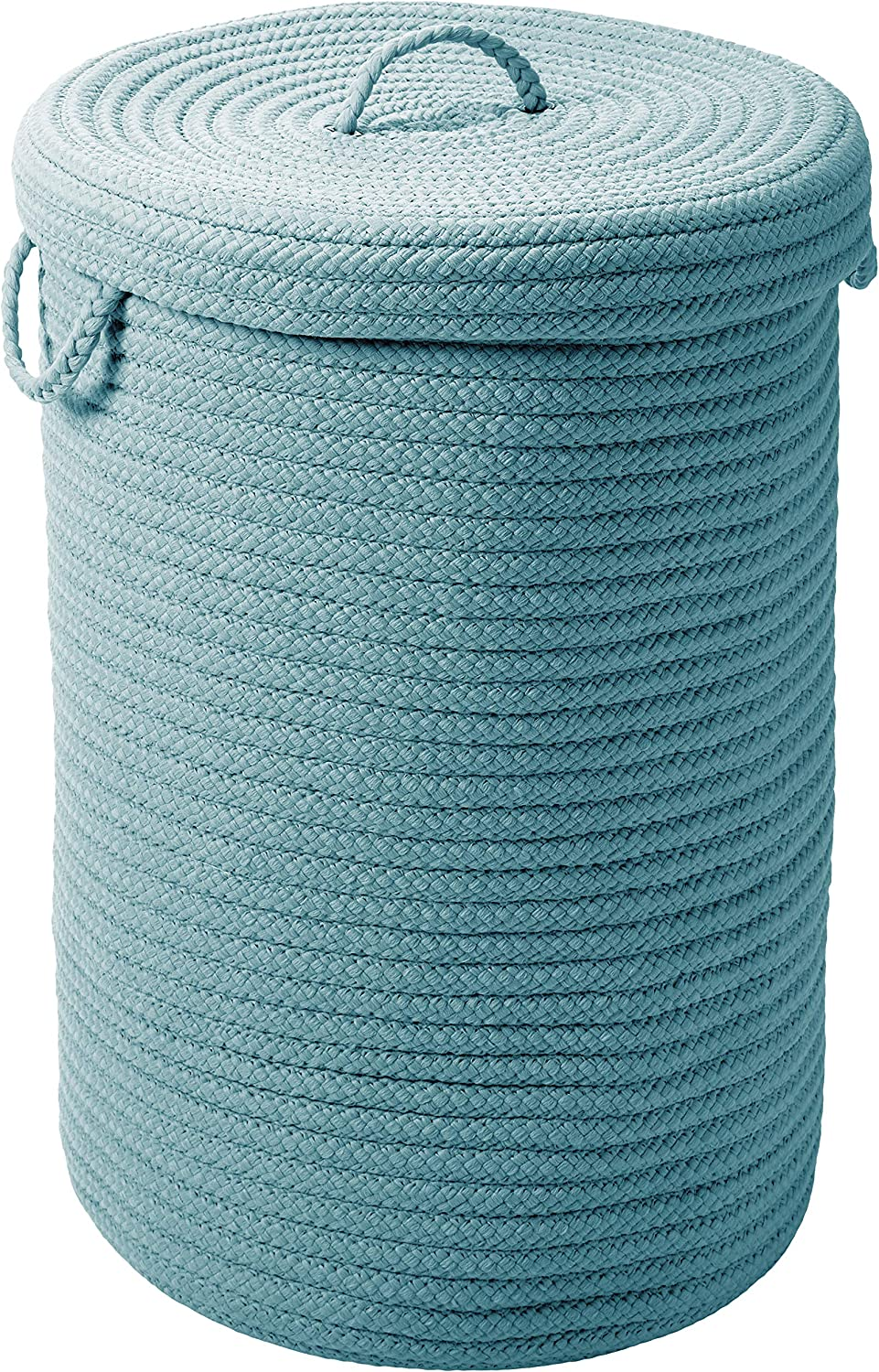 Colonial Mills H101A016X024 Simply Home Solid Storage Hamper with Lid, Large, Federal bluee